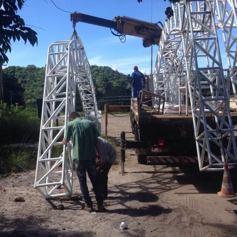 Prefeitura instala novos portais em pontos turísticos de Marechal Deodoro
